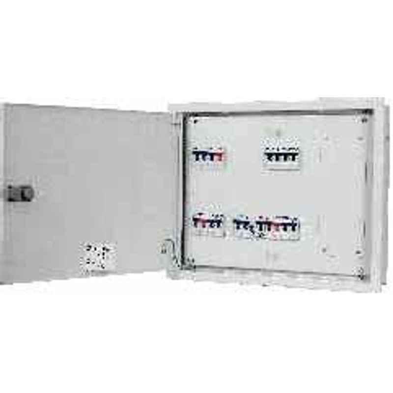 C&S CSDBTPNDDTELTV08 8 way Double Door Wintrip Telephone & Television Socket Distribution Board