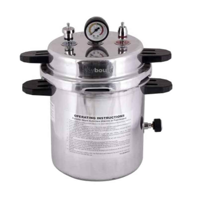 Skybound Aluminum 9x11 inch Pressure Cooker Mirror Finish Electric Autoclave