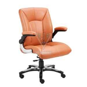 VJ Interior 19x22 inch Mid Back Revolving Executive Leatherette Chair, VJ-1408