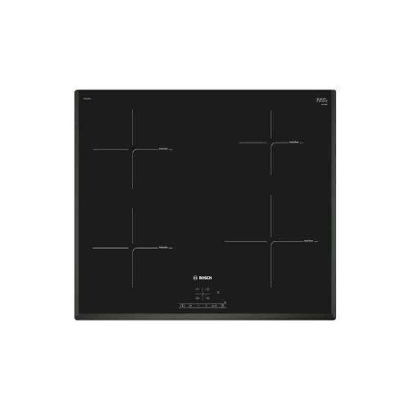 Bosch Serie-4 0.5W Electric Burner Black Induction Hob, PIE651BB5I, Size: 60 cm