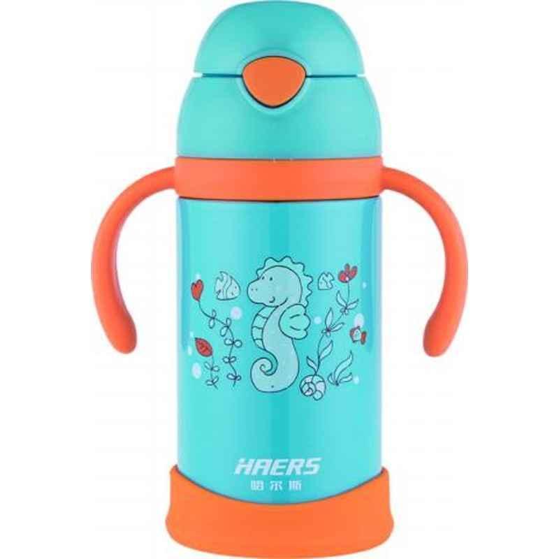 Haers 330ml Stainless Steel Blue Kids Bottle, HX-330-9-BLU