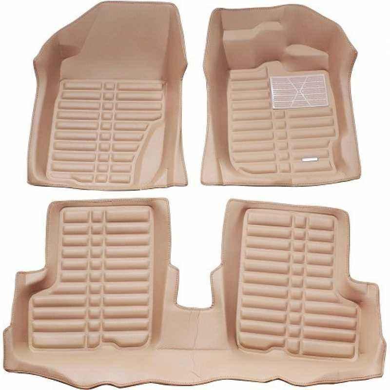 Oscar 5D Beige Foot Mat For Tata Tiago Set