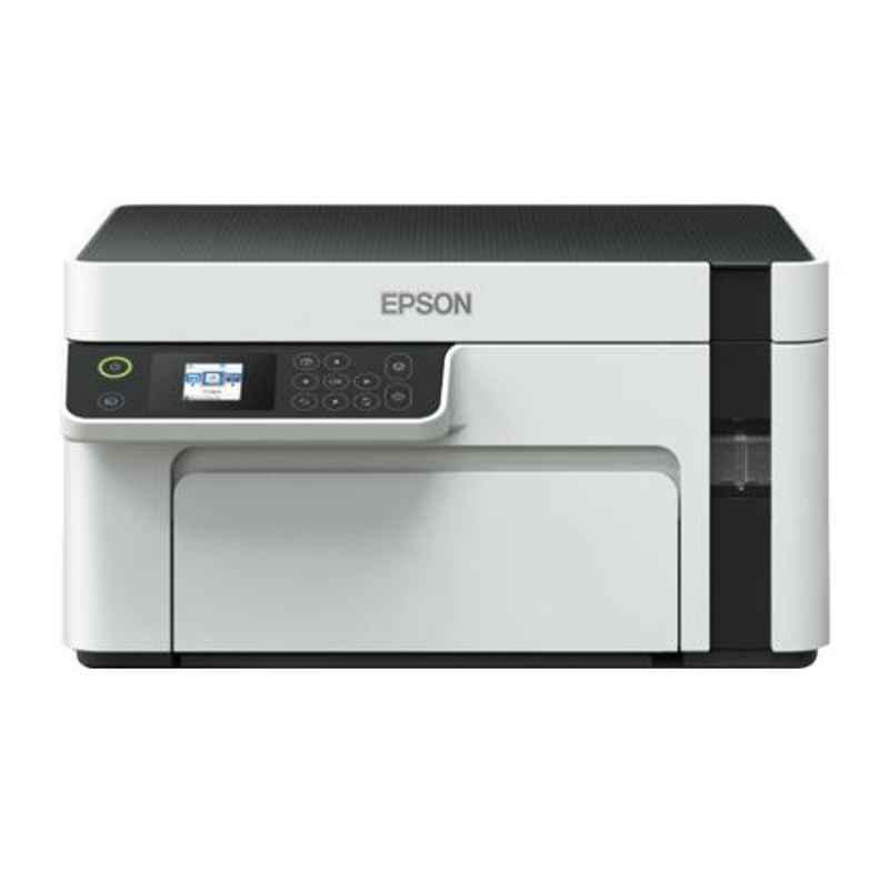 Epson EcoTank Monochrome White All In One Ink Tank Printer, M2110
