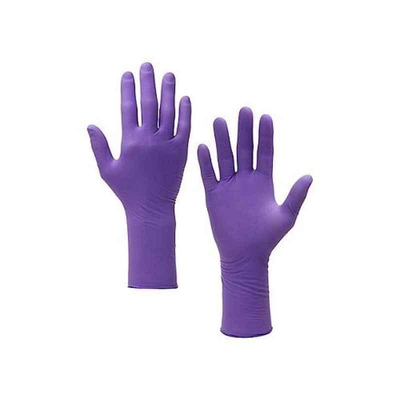 Kimtech Science 50 Pcs 30cm Ambidextrous Large Purple Nitrile Xtra Gloves Box, 97613 (Pack of 10)