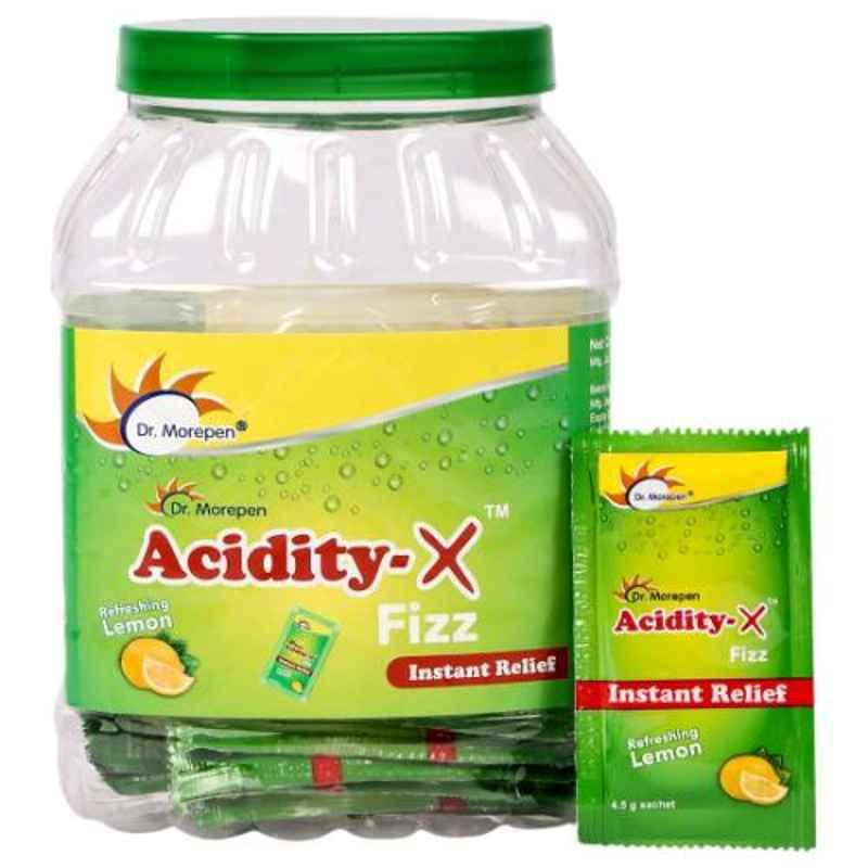 Dr. Morepen 50 Sachets Acidity-X Fizz Indigestion Medicine & Gas Relief (Pack of 50)