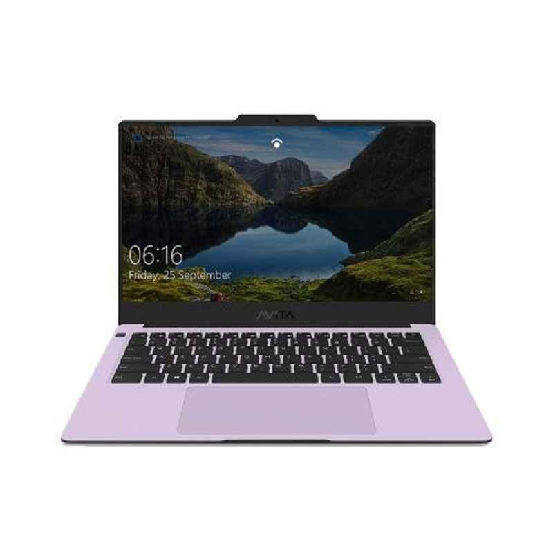 AVITA LIBER AMD Ryzen 5-3500U/8GB DDR4/512GB HDD & 14 inch Display Soft Lavender Laptop with 2 Years Warranty, NS14A8INV561-SLA