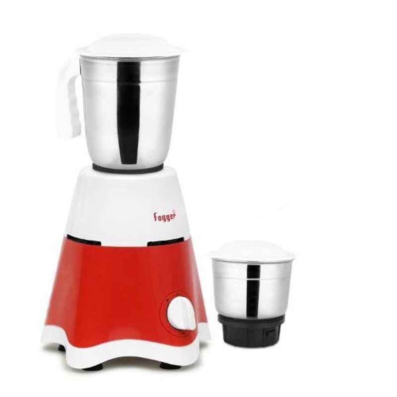 Fogger Star 500W Red & White Mixer Grinder with 2 Jars