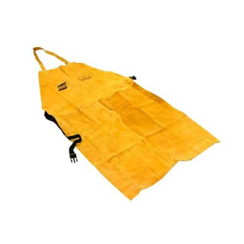 ESAB Yellow Leather Welding Apron, Size: Standard