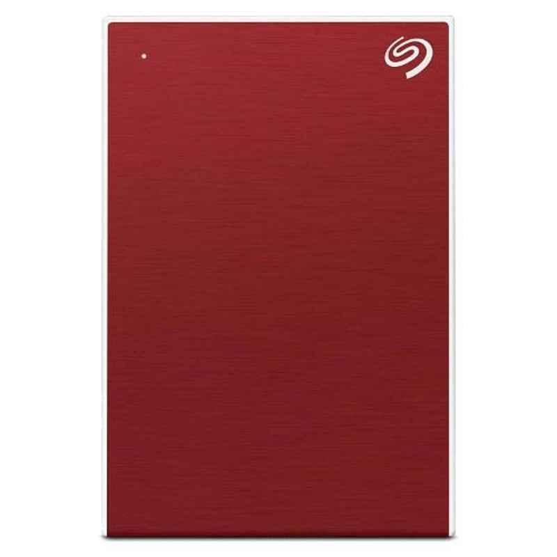 Seagate 2TB USB 3.0 Slim Portable Backup Plus Red External Hard Disk Drive for PC, Laptop & Mac, STHN200403