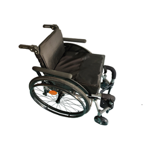 NeoFly 110kg 15 inch Silver Adjustable Easy Go Wheelchair, MX-NM-02