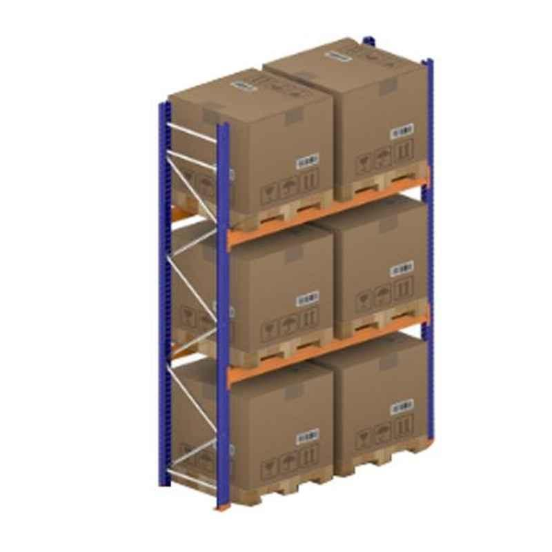 Godrej Ground Plus 2 Layers Steel Selective Pallet Racking, Max Load Capacity: 4000kg, Main Unit: 3500x2300x800mm (HxWxD)