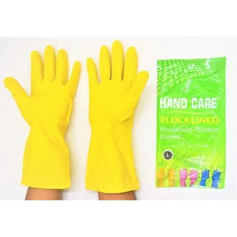Hand Care Yellow Rubber Gloves (Pack of 3)