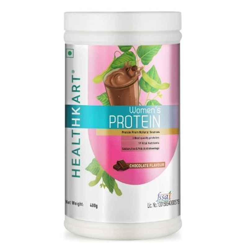 Healthkart 400g Chocolate Women Protein Supplement with Calcium, Iron & DHA, HNUT9500-01