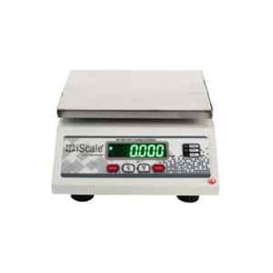 iScale 10kg and 1g Accuracy White Digital Multipurpose Weighing Machine with Double Display