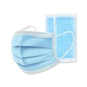 SSRE 3 Ply Non-Woven Blue Disposable Face Mask With Nose Stick (Pack of 25)