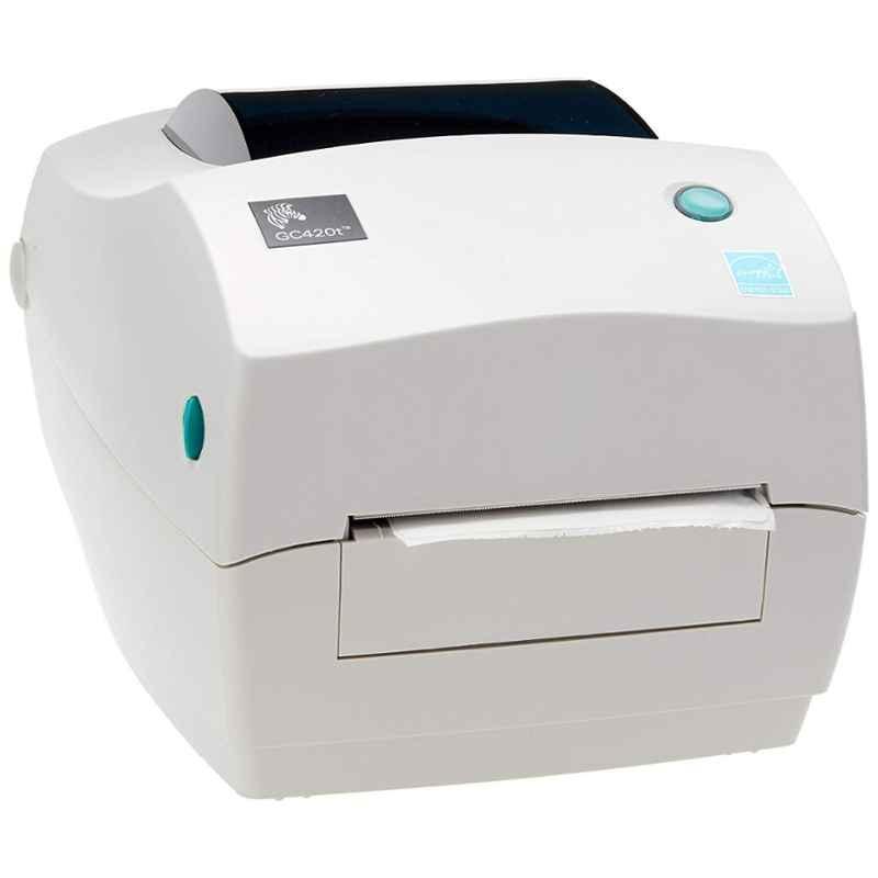 Zebra GC420T White Monochrome Desktop Direct Thermal Label Printer