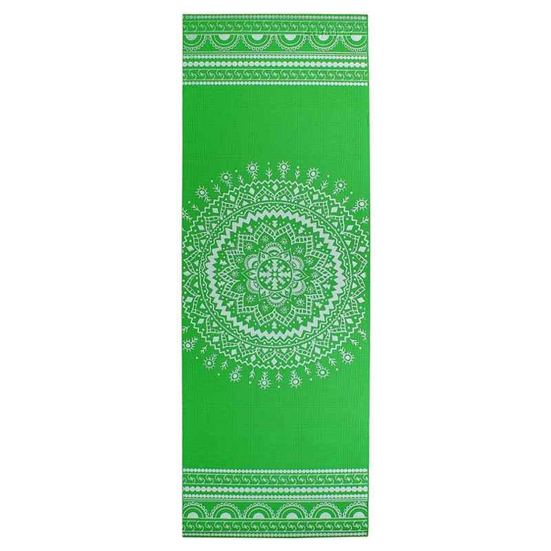 Strauss 1730x610x5mm Green Designer Yoga Mat with Cover, ST-1417