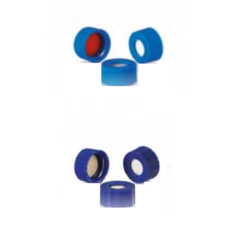 Borosil 100 Pcs 9mm Silicone Blue Pre-Slit Screw Cap for 2ml Screw Neck Vial, CS000009PBS115 (Pack of 10)