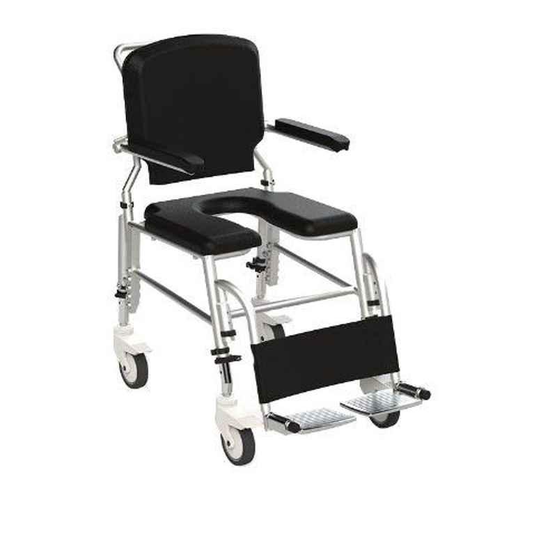 Frido Prime 36.7x20x34.4 inch Fully Waterproof & Rustproof Self Propelled Shower Commode Wheelchair, SAS100