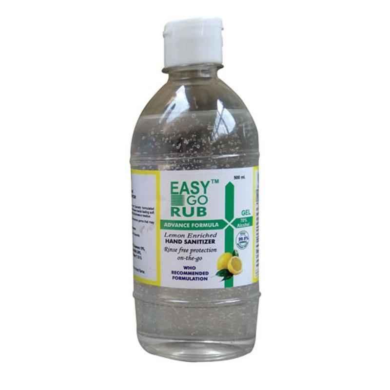 Easy Go Rub 500ml 70% Ethyl Alcohol Gel Based Hand Sanitizer with Flip Top
