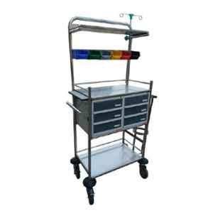 Acme 940x490x1535mm Stainless Steel Crash Cart, Acme-1051A