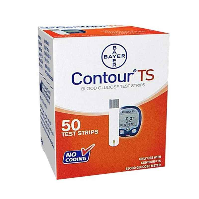 Bayer Contour TS 50 Pcs Blood Glucose Test Strips (Pack of 2)