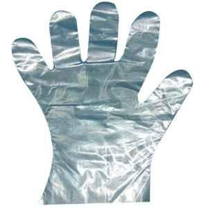 Khushi 12 inch Plastic Hand Gloves (Pack of 100)