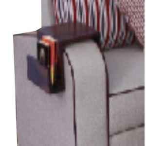 Marv Wooden Walnut Finish Savio Sofa Arm Table, MFMMG017