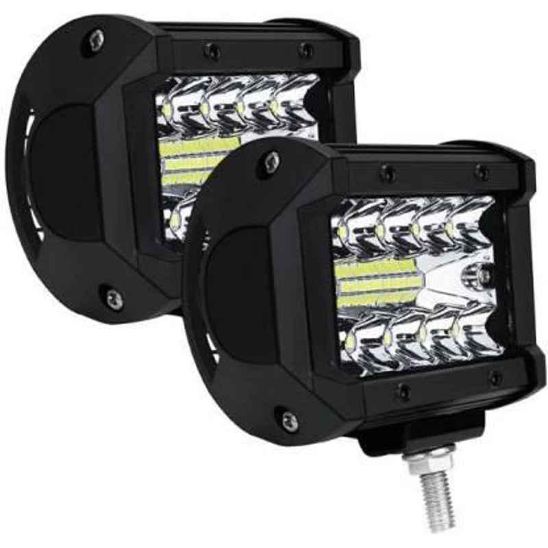 JBRIDERZ Car Cob Drl Fog Lamp 2 Pcs Set For Mahindra Commander 2.5L 4X4
