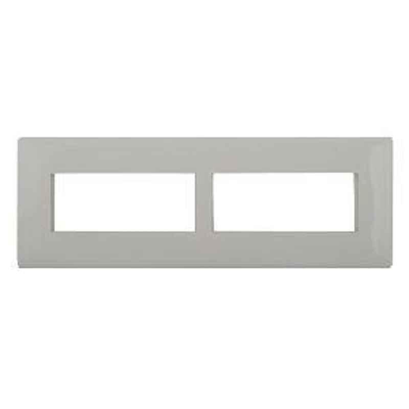 Legrand Mylinc 8 Module Horizontal Cover Plate Silver Alu - 6763 85