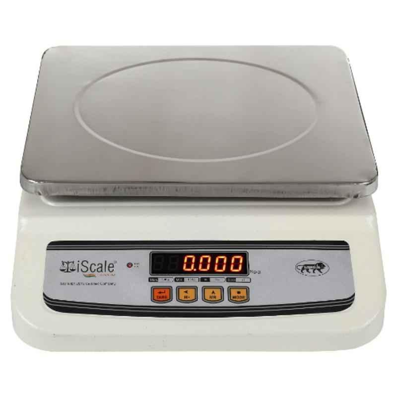 iScale i-02 20kg and 1g Digital Table Top Weighing Scale with Front and Back Double Display and 10x12 inch Pan Size