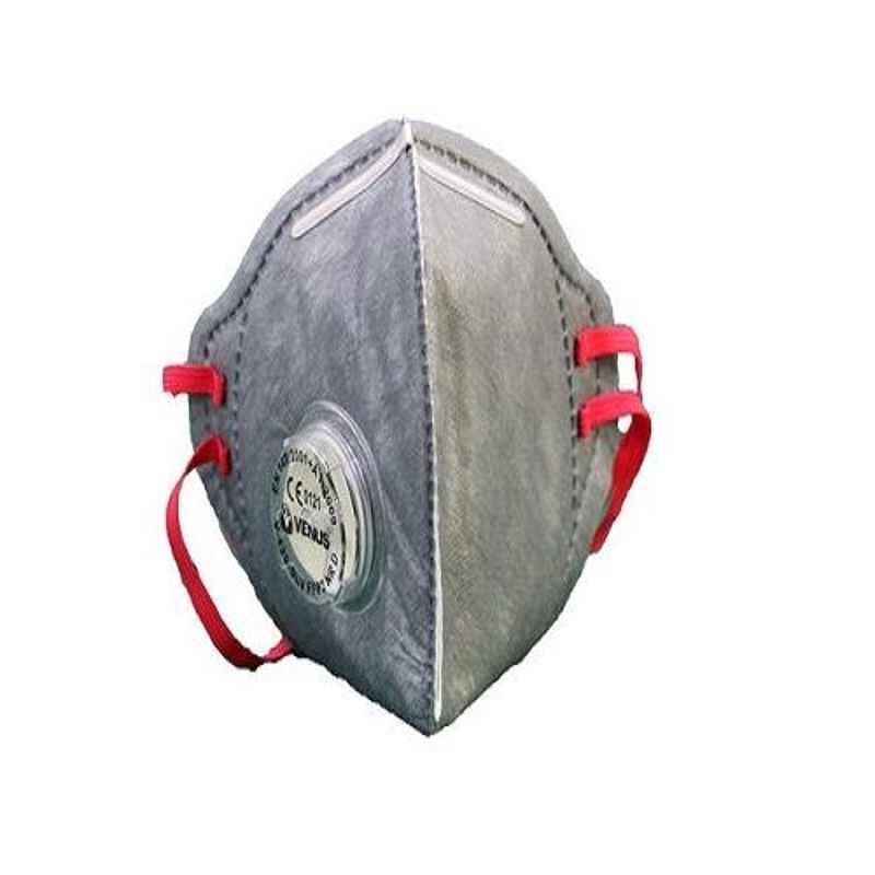 Venus V-420 SLV Grey FFP2-NR D N95 Flat Fold Style Respiratory Mask, 14038