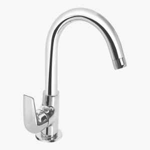 Kerovit Slope Silver Chrome Finish Deck Mounted Sink Cock with Swivel Spout, KB1311028