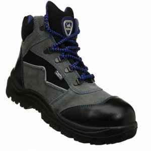 Allen Cooper AC-1110 Gripper Steel Toe Grey & Black  Safety Shoes, Size: 8
