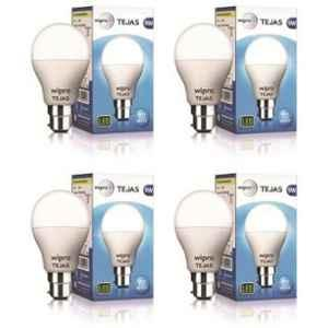Wipro Tejas 9W Cool Day White Standard B22 LED Bulb, N95001 (Pack of 4)