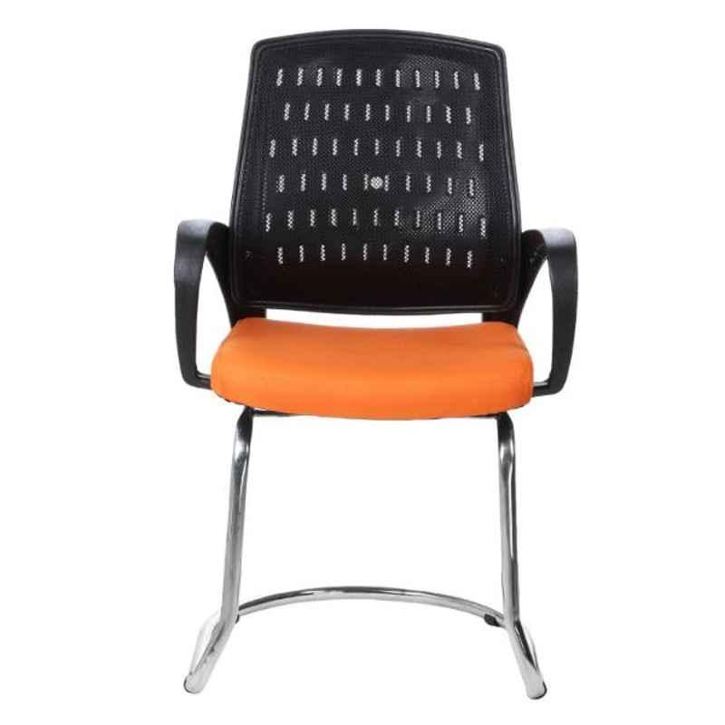 Regent Metal & Plastic Black & Orange Crape Chair with Modle Handle, RSC-839