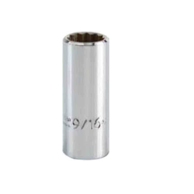 Proto 12mm 6 Point Full Polish 3/8 inch Drive Deep Socket, J5012MH