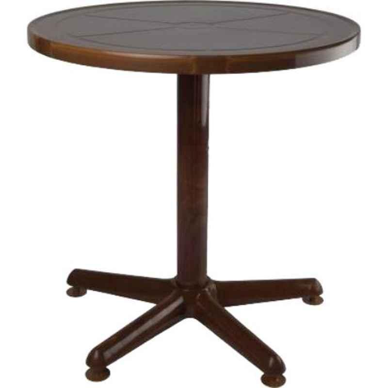 Supreme Penta Teak Wood Plastic & Polypropylene Round Outdoor Table