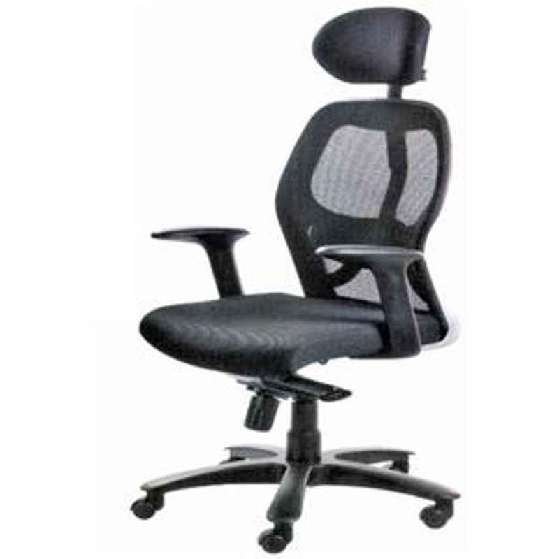 Divano Black Color Modular Office Chair DM948