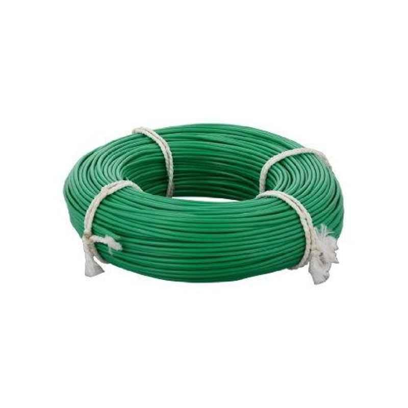 KEI 1 Sqmm Single Core FR Green Copper Unsheathed Flexible Cable, Length: 100 m
