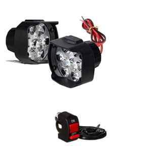 Love4ride 2 Pcs Bike LED Fog Light with 1 Pc Switch