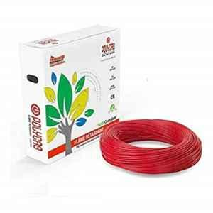 Polycab 1.5 Sqmm 90m Red Single Core FRLF Multistrand PVC Insulated Unsheathed Industrial Cable