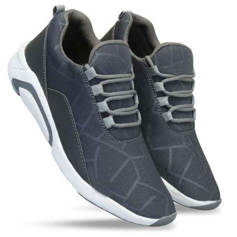 Mr Chief 2024 Grey Smart Sports Running Shoes, Size: 8