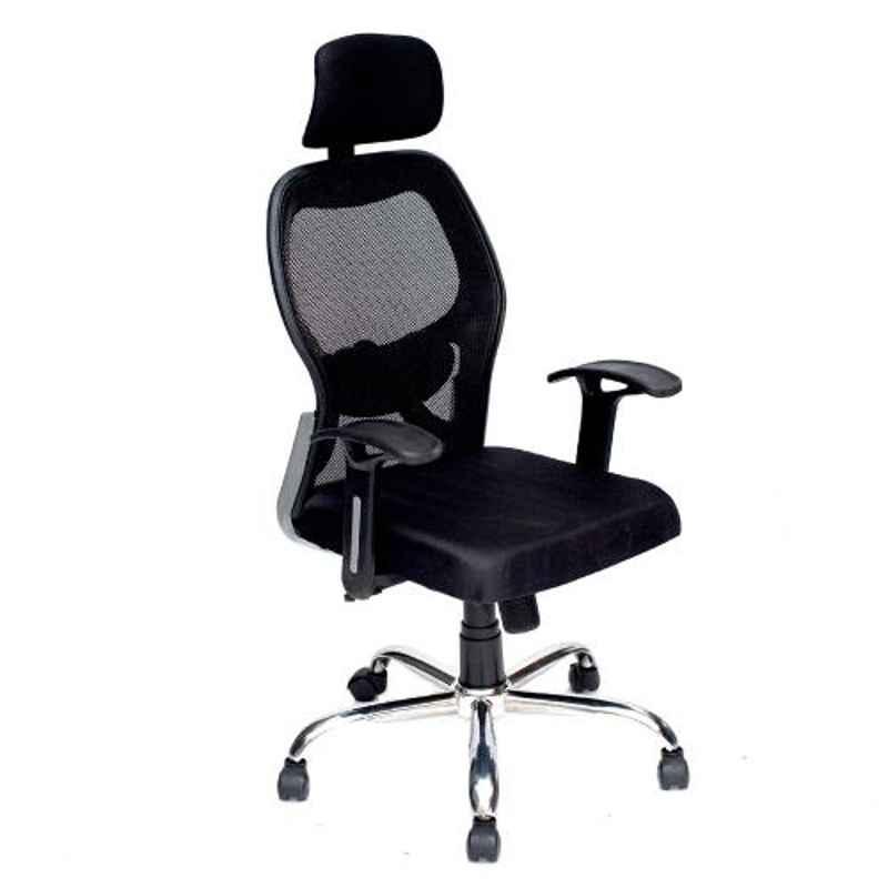 High Living Matrix HB Net & Cloth High Back Black Office Chair