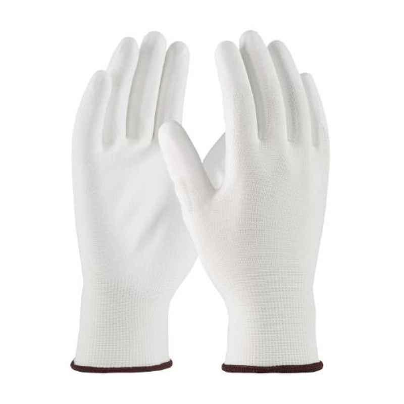 Siddhivinayak 12 inch White PU Coated Safety Gloves (Pack of 60)
