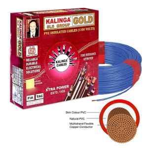 Kalinga Gold 2.5 Sq mm Blue FR PVC Housing Wire, Length: 90 m