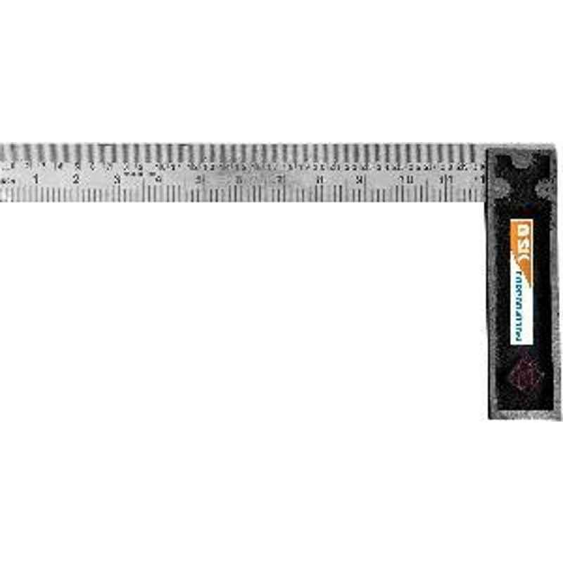 GSK Corporation Engineers Tri Square Tool 90 Degrees Right Angle Ruler 10 Inch