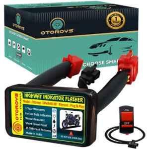 Otoroys 25 Mode Patterns Universal Bike Hazard Flasher Relay for LED Bulb Indicators, OTO-M15