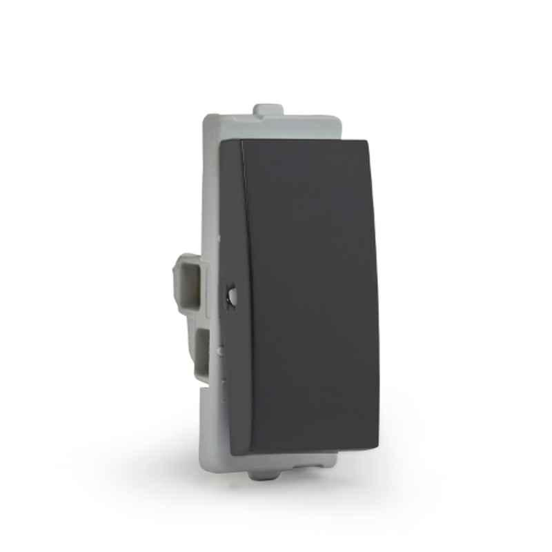 Schneider Opale 6A 1 Module Coke Grey Switch without Indicator, AAKY1001 (Pack of 20)