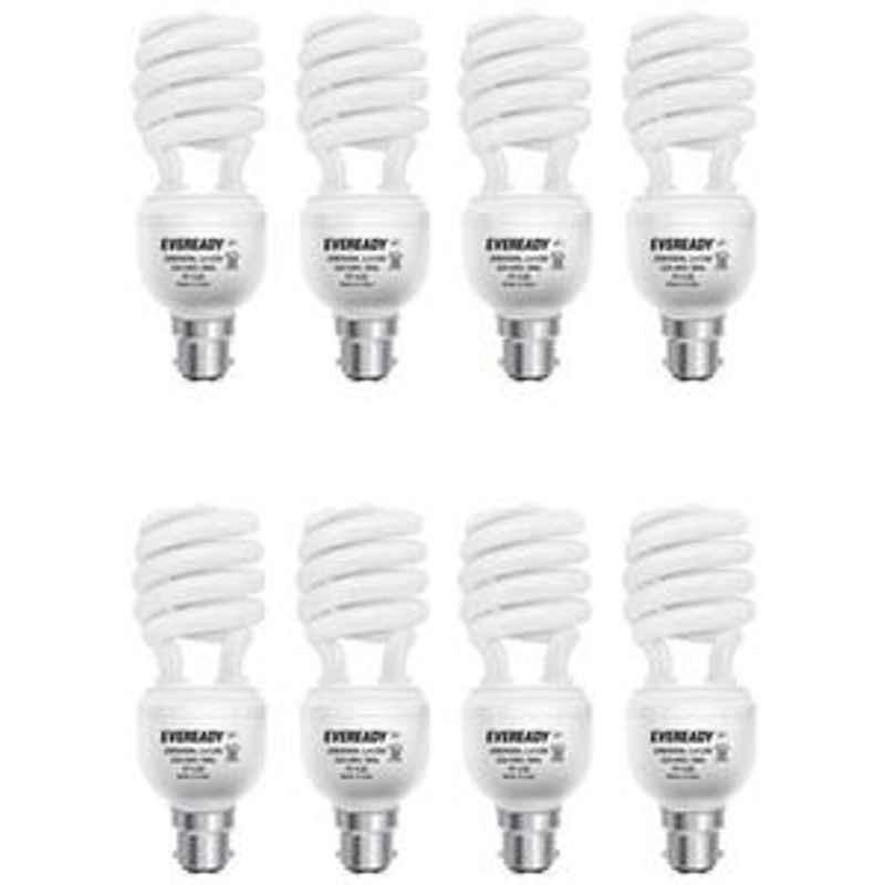 Eveready 15W Spiral 8Pcs HPF White CFL Bulb